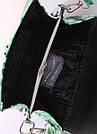 Сумка кожаная с зеленым принтом POOLPARTY Daisy женская летняя, фото 4