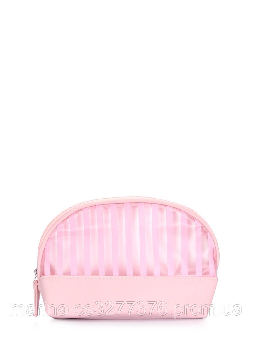 Розовая косметичка в полоску Cupcake