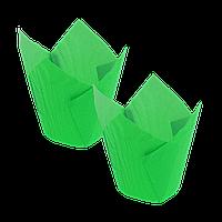 Формочки Тюльпан (d =50mm.h=60/80mm) (1уп/150шт) зелёные