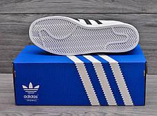 Мужские кроссовки в стиле Adidas Superstar Originals Black/Gold, фото 3