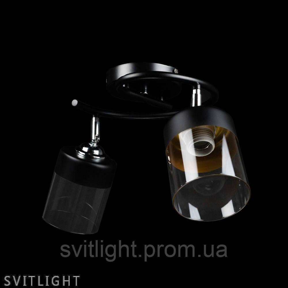 Люстра потолочная на 2 плафона 51469/2A CR/BK N Svitlight