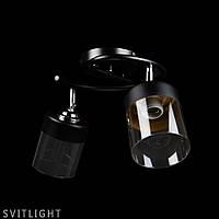 Люстра потолочная на 2 плафона 51469/2A CR/BK N Svitlight, фото 1