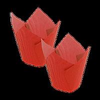 Формочки Тюльпан (d =50mm.h=60/80mm) (1уп/150шт) красные