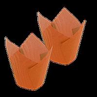 Формочки Тюльпан (d =50mm.h=60/80mm) (1уп/150шт) оранжевые