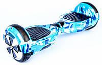 """Гироскутер / Гироборд Smart Balance Elite Lux 6,5"""" Голубой Милитари +Сумка"""