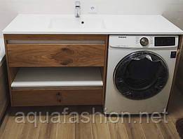 Тумба на пральну машину 150 см Fancy Marble Vivara натуральний шпон