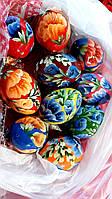 Очень красивые деревянные пасхальные яйца разные цвета