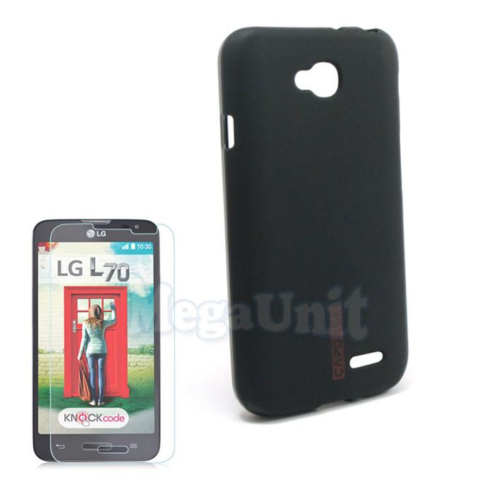 Capdase Силиконовый чехол (+пленка) для LG Optimus L70 (d320)