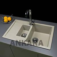 Кухонная мойка из искусственного камня Ankara Premium M