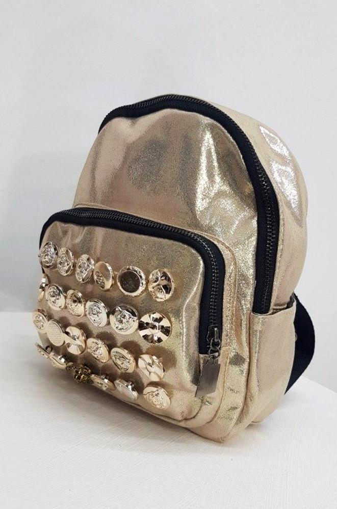 Рюкзак Y-15 золотистый 23 х 19 х 7 см