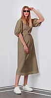 Платье Favorini-21606 белорусский трикотаж, беж, 42