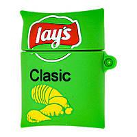 Чехол для AirPods Lays Classic зеленый