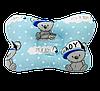 """Детская ортопедическая подушка-бабочка Солодкий Сон """"Мишки Boy/Овечки"""" 20х28 см."""