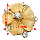 Кольцо Женское Коктейльное Цветок, под Золото, Кремовое, Безразмерное, Кольца Женские, Бижутерия, фото 2