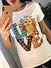 Женская футболка с рисунком