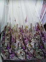 Тюль фиолетовая фатин турецкая