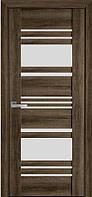 Дверь межкомнатная Ницца Бук Табачный 700 мм со стеклом сатин (матовое), ПВХ Viva.