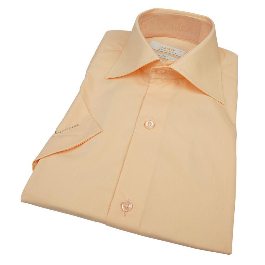Однотонная мужская рубашка с коротким рукавом Desibel 23017 Classic K