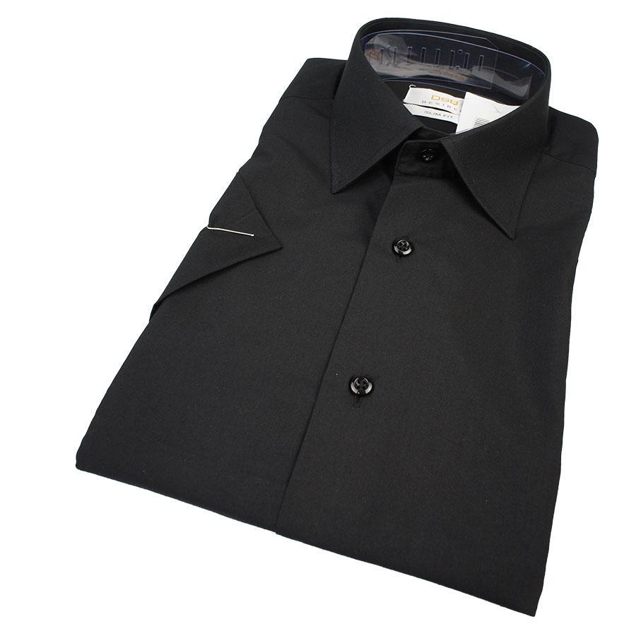 Мужская классическая рубашка Desibel BLACK Classic K черного цвета короткий рукав