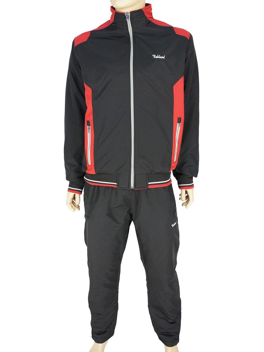 Стильный мужской спортивный костюм Fabiani 590315 H Black черного цвета