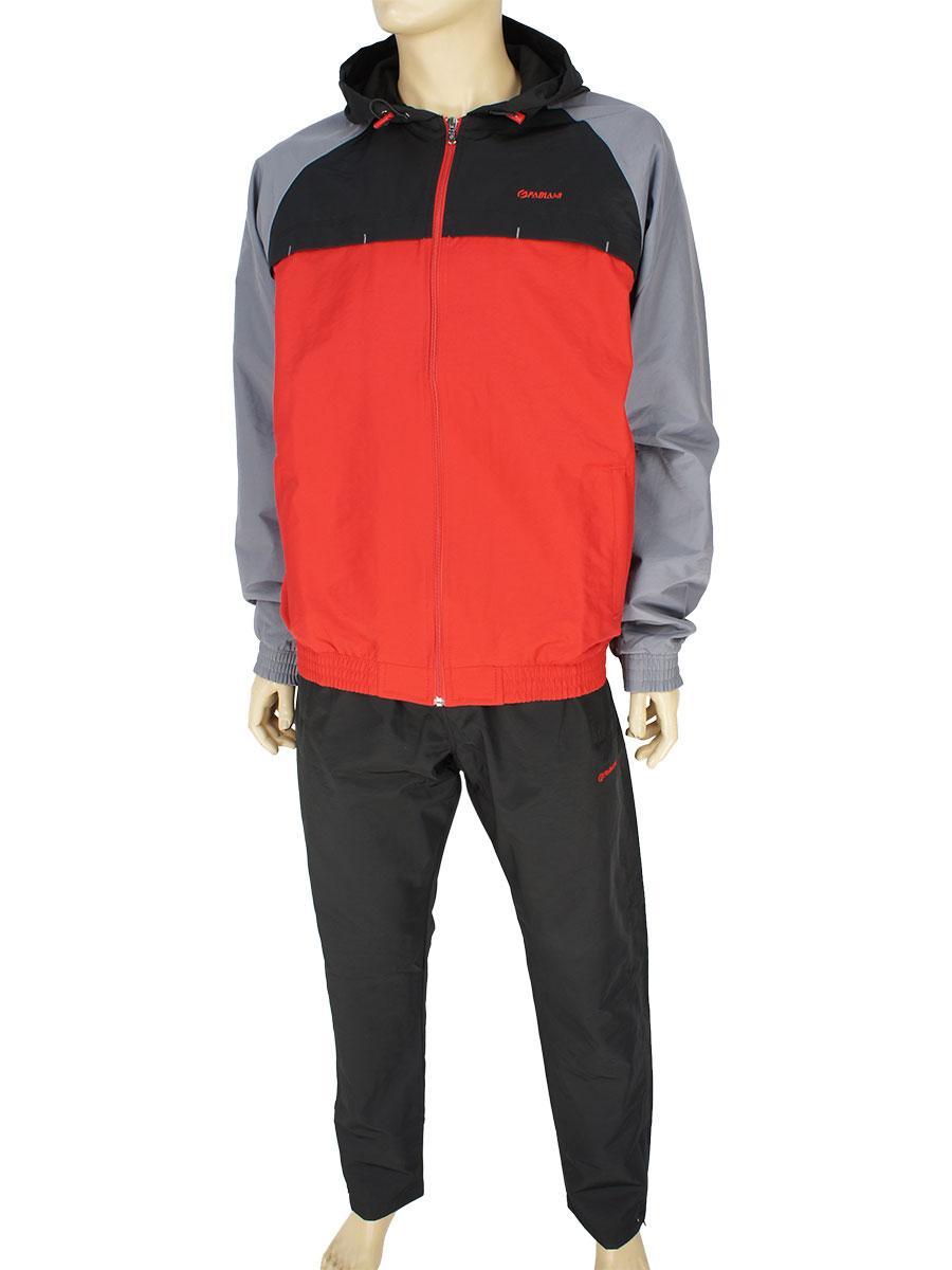 Спортивный костюм из плащевой ткани Fabiani 590252 H Red-Black для мужчин
