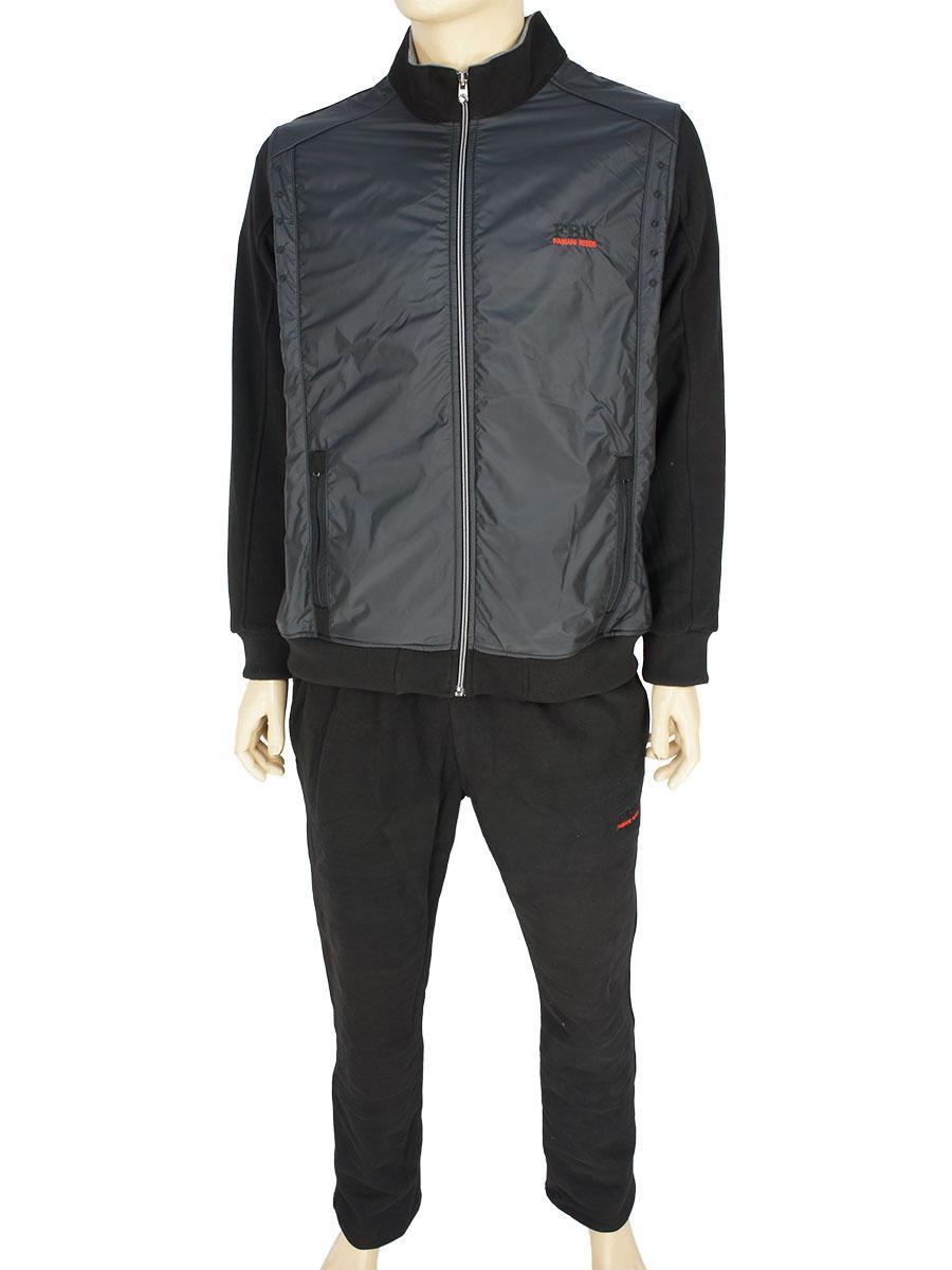 Стильный мужской спортивный костюм Fabiani 23486 H Black черного цвета