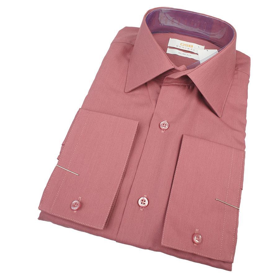 Качественная мужская приталенная рубашка Desibel 25032 Slim D длинный рукав