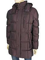 Удлинённая мужская куртка Santoryo WK 1020 С-Bordo в бордовом цвете