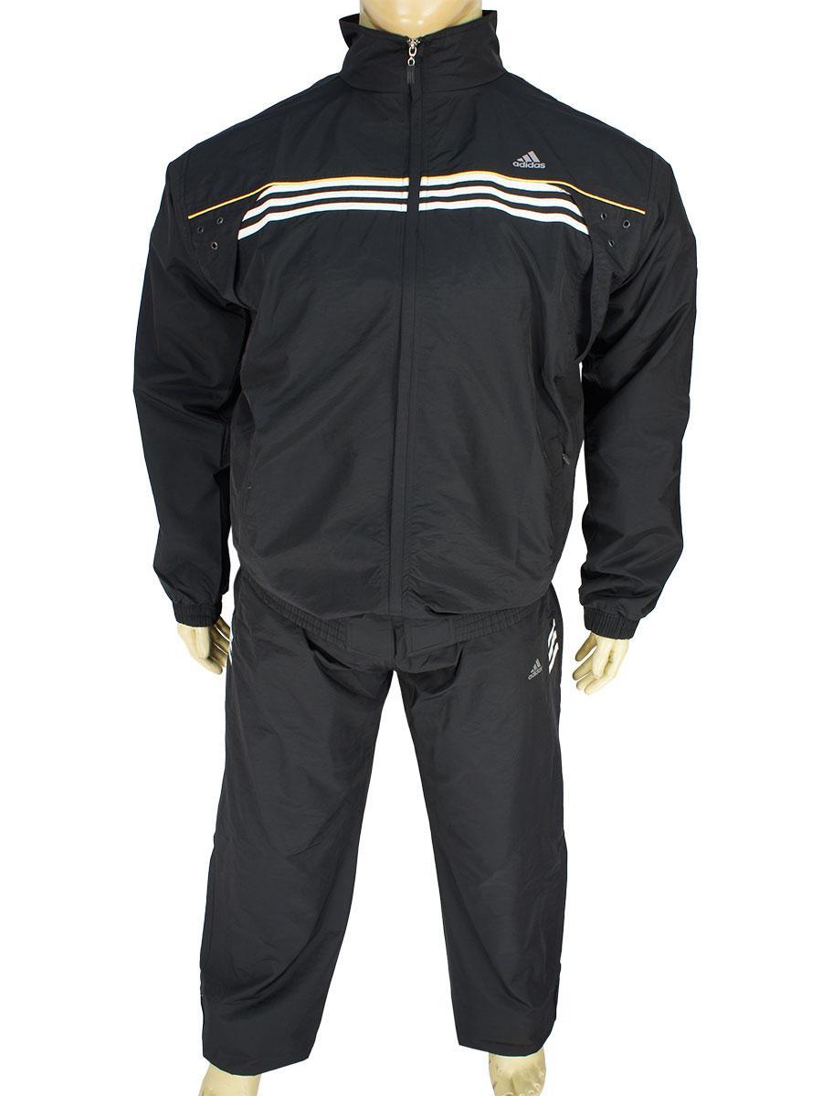 Спортивный черный мужской костюм 5779-В В Black большого размера