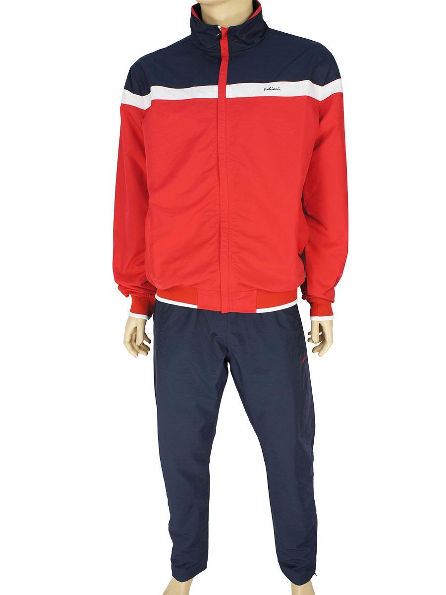 Спортивный мужской костюм Fabiani 590304 H Red/Darkblue из плащевой ткани