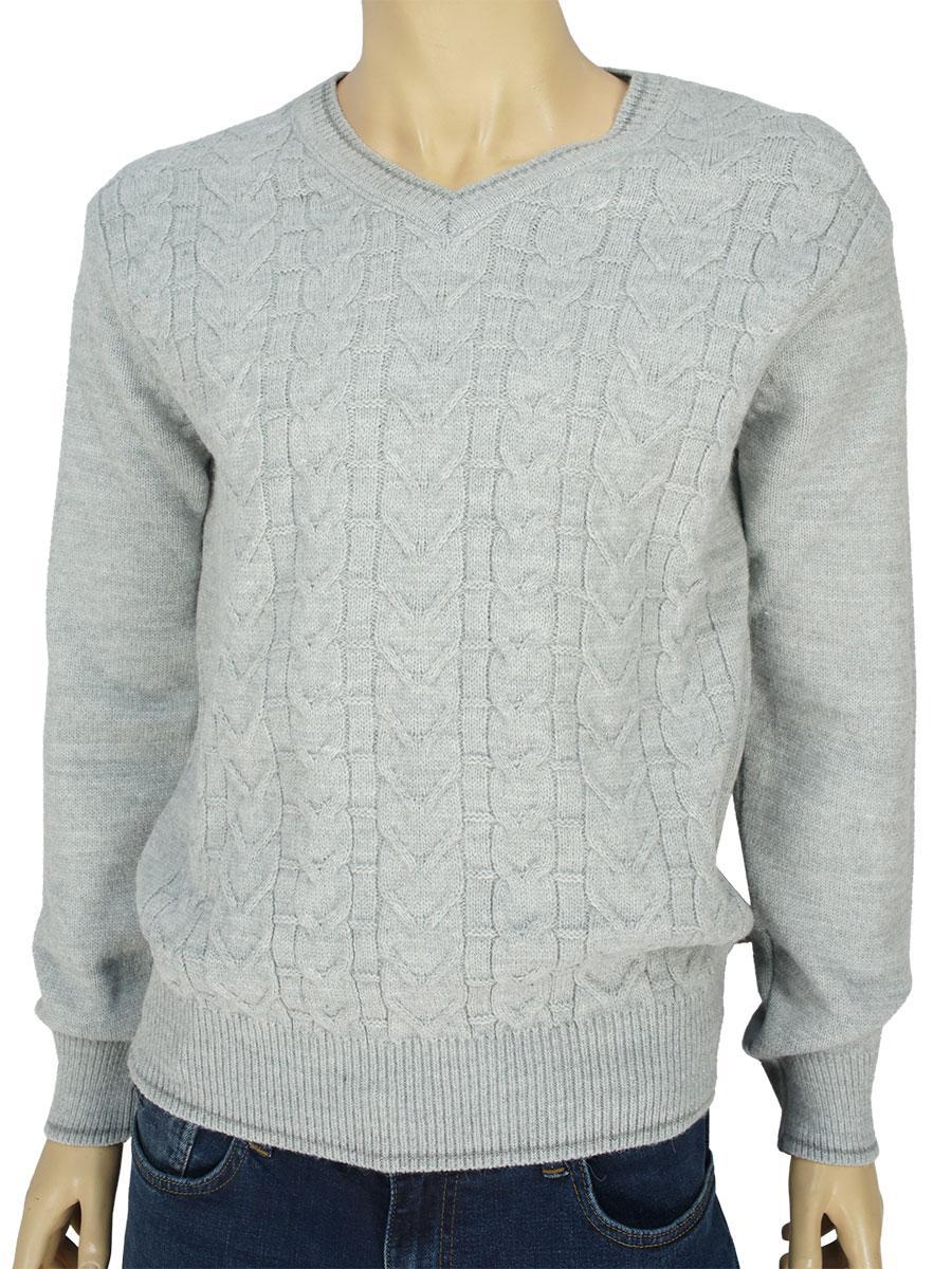 Мужской зимний свитер Turhan 0480 Н в сером цвете
