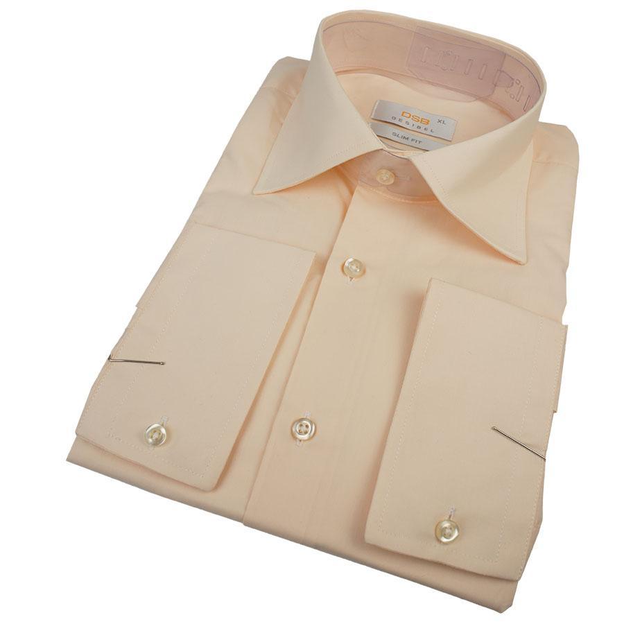 Турецкая мужская рубашка Desibel 23017 Slim D персикового цвета