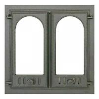Чугунная каминная дверца 400 SVT 600x600 мм (двустворчатая)