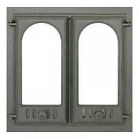 Чугунная каминная дверца 401 SVT 500х500 мм (двустворчатая)