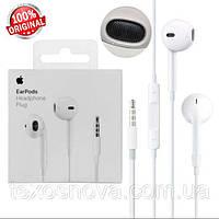 Наушники для Айфона проводные (ORIGINAL 100%), Apple EarPods Headphone Plug MNHF2ZM/A Оригинал