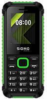 "Мобильный телефон Sigma mobile X-style 18 Track Dual Sim Black/Green; 1.77"" (160х128) TN / клавиатурный моноблок / microSD до 32 ГБ / без камеры / 2G"