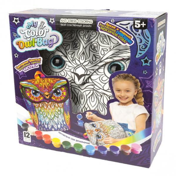 Креативное творчество  «MY COLOR OWL-BAG»