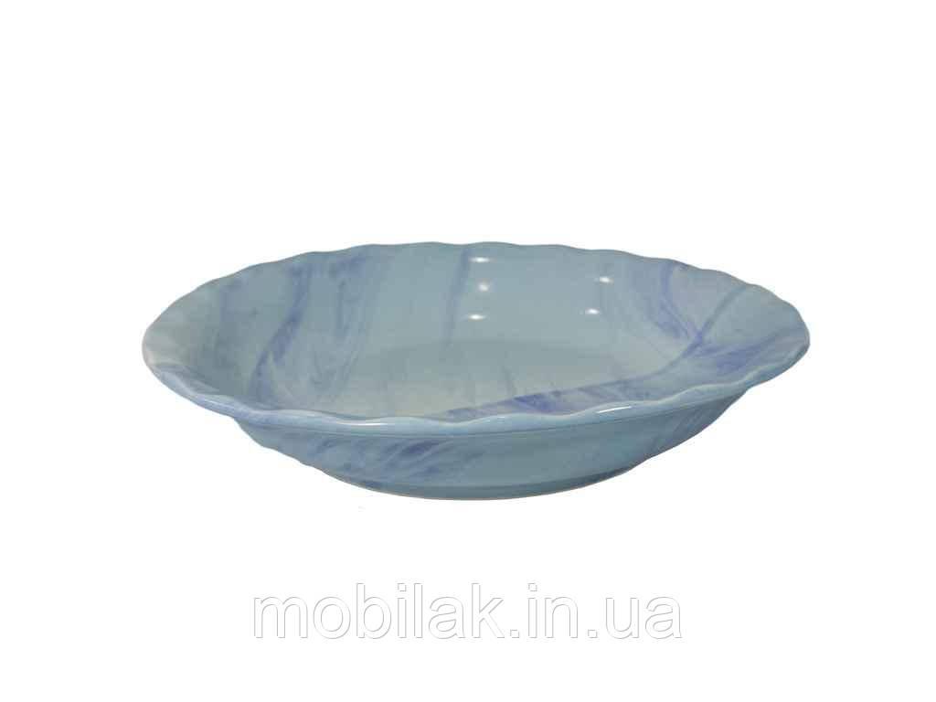 Тарілка мілка d=175мм Веселка блакитна (6шт. в уп) ТМПОЛИГЕНЬКО