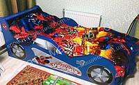Кровать машина Человек Паук синяя