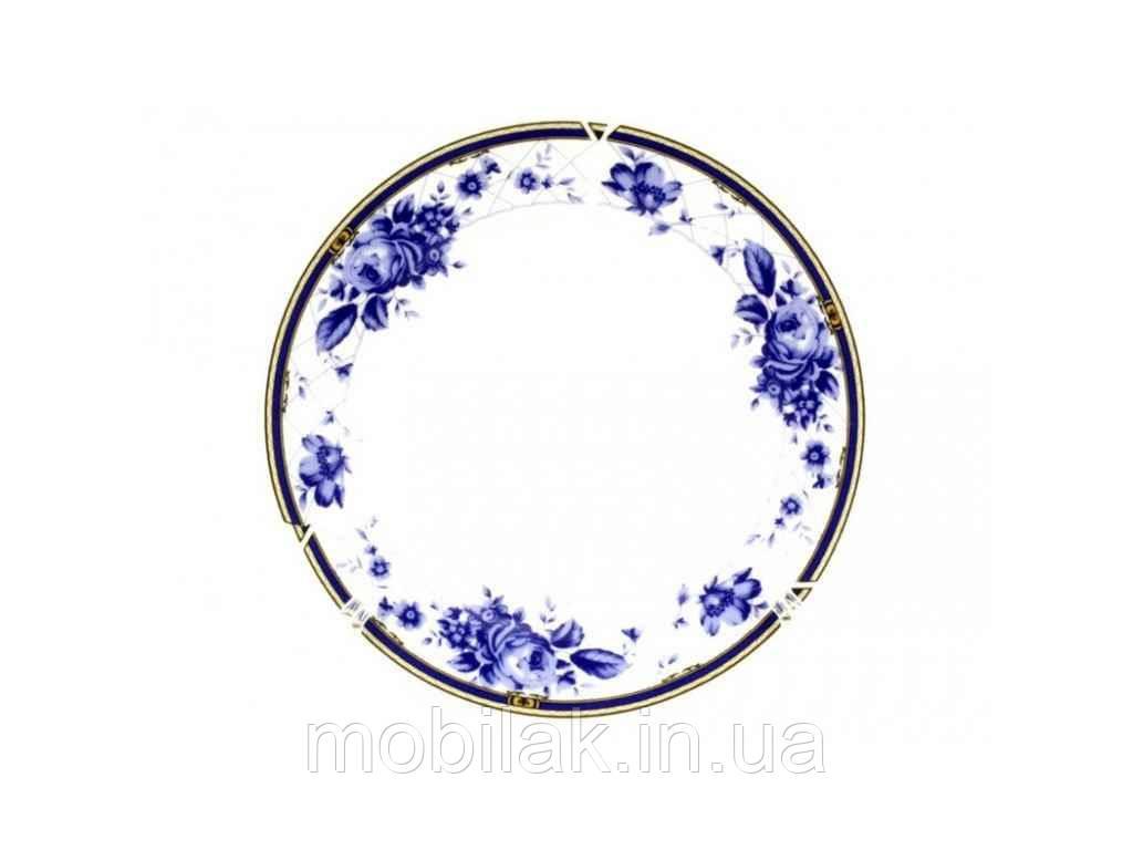 Тарілка мілка №8 d=200мм Блакитна троянда 8862 (12шт. в уп) ТМINTEROS