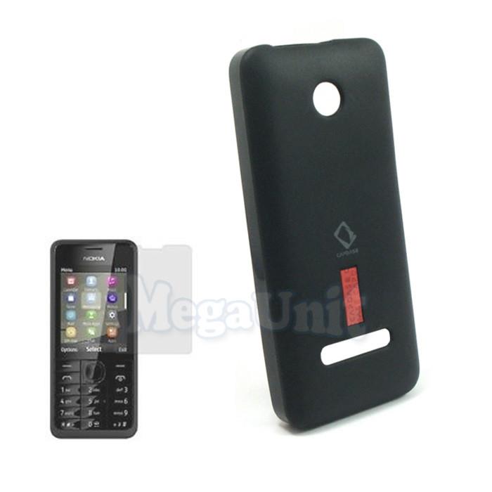 Capdase Силиконовый чехол (+пленка) для Nokia 301