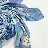 Платок из вискозы 10618-13, павлопосадский платок из вискозы с подрубкой, фото 8