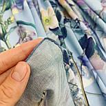 Платок из вискозы 10618-13, павлопосадский платок из вискозы с подрубкой, фото 7