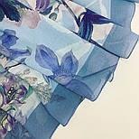 Платок из вискозы 10618-13, павлопосадский платок из вискозы с подрубкой, фото 4