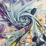 Платок из вискозы 10618-13, павлопосадский платок из вискозы с подрубкой, фото 5