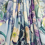 Платок из вискозы 10618-13, павлопосадский платок из вискозы с подрубкой, фото 2