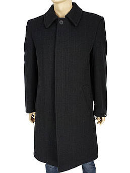 Класичне подовжене чоловічий пальто Wilinski 3086 чорного кольору