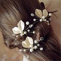 Свадебные шпильки для волос золотого и серебристого цвета