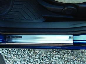 Накладки на дверні пороги Ford Fusion 2002+ (4 штуки)