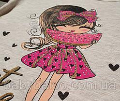 """Стильная футболка """"Девочка с арбузом"""" (от 5 до 8 лет), фото 3"""